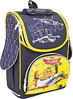 Рюкзак (ранец) 1 Вересня школьный каркасный 552234 Самолетики 2532-3 25*34*12см