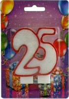 Свеча для торта Хобби SV-002-25 Юбилейная 25