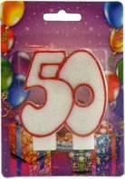 Свеча для торта Хобби SV-002-50 Юбилейная 50