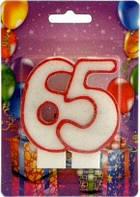 Свеча для торта Хобби SV-002-65 Юбилейная 65