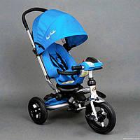 Велосипед-коляска Fasterst Trike 698 с опускающейся спинкой голубой, фото 1