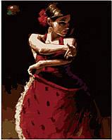 Картина раскраска по номерам на холсте 40*50см Идейка MG1006 Яркая танцовщица