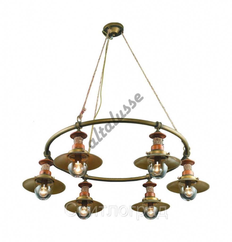 Светильник Подвесной Loft   Люстра Altalusse INL-6097P-06 Brushed Gold