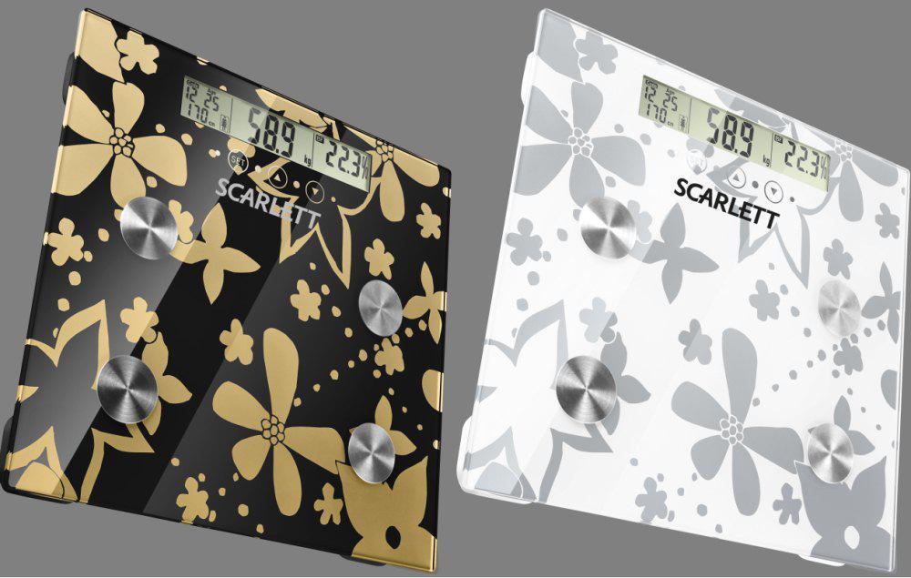 Напольные весы электронные SCARLETT SC-216, стекло