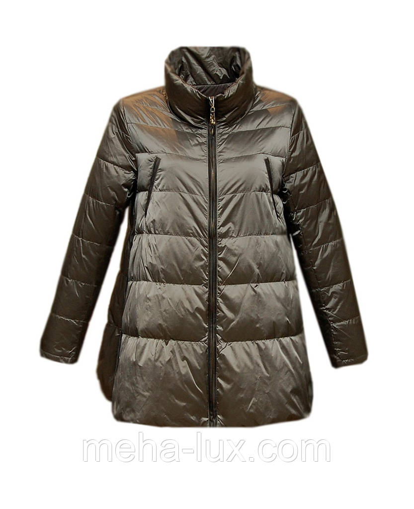 e68e2cea0e9b Куртка Rufuete женская демисезонная трапеция без капюшона металлик ...