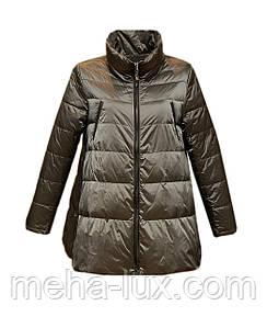 Куртка Rufuete женская демисезонная трапеция без капюшона металлик