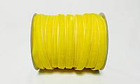 Бархатная лента 1см 46 метров декоративная желтая