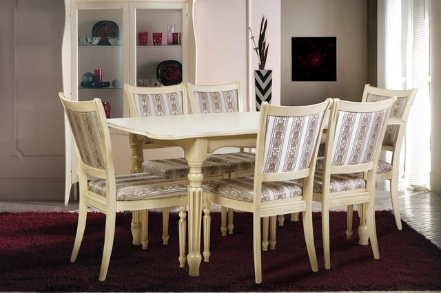 Стол обеденный Венеция 120 слоновая кость Микс-Мебель