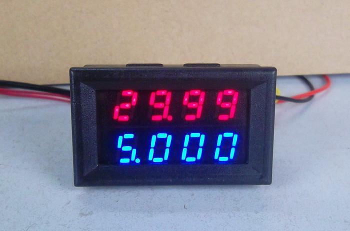 Вольтметр / Амперметр 0.01-200V 10A / 50A / 100A (4-знака) Высокая точ