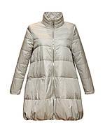 Куртка Rufuete удлиненная демисезонная трапеция без капюшона серая