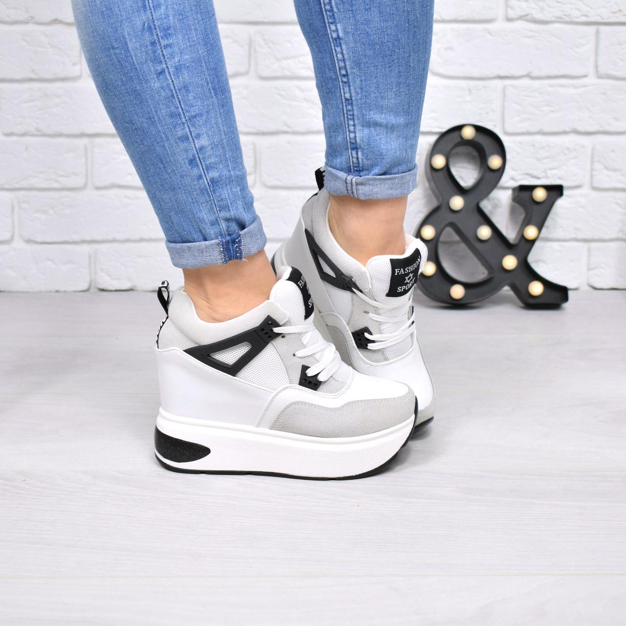 916fd52ce2b1 Кроссовки женские на платформе Qub белые 4155, спортивная обувь ...