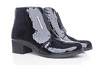 Ботинки женские деми кожаные лаковые, из натуральной кожи, натуральная кожа, демисезонные