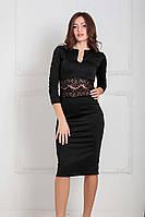 Вечернее трикотажное платье Mirena, черный (XS-XXL)