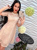 Элегантное и модное женское платье из кружева