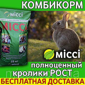 Корм для КРОЛИКОВ рост (мешок 25 кг) Мисси