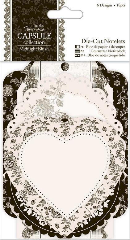 Набор высечек из бумаги Docrafts 18л Midnight Blush PMА157228
