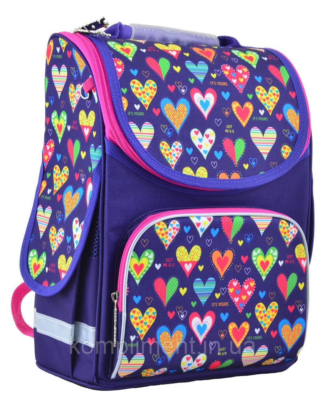 Рюкзак каркасный  PG-11 Hearts blue, 31*26*14 , SMART