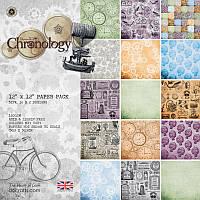Набор бумаги для скрапбукинга Хронология 30,5*30,5 160г 32л Docrafts PMА160132