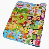 Коврик детский развивающий игровой на пол для ползанья.  Размер 2м на 1,8м. Толщина 1см, фото 1