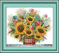 Набор для вышивания Идейка 48*42см Цветущий букет H035