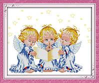 Набор для вышивания Идейка 41*35см Ангелочки R380