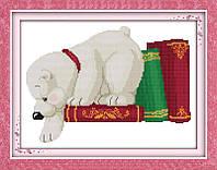 Набор для вышивания Идейка 35*28см Белый медвежонок D109