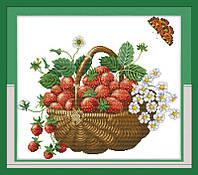 Набор для вышивания Идейка 47*42см Корзина с ягодами J048