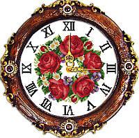 Набор для вышивания Идейка 32*33см Часы Яркие цветы G030