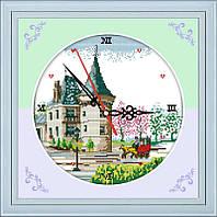 Набор для вышивания Идейка 27*38см Часы Замок G219