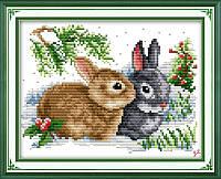 Набор для вышивания Идейка 33*27см Крольчата D091