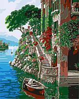 Картина раскраска по номерам на холсте 40*50см Идейка MG1101 Летняя идиллия