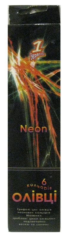Карандаши цветные 6цв. 1 Вересня неон KV-0008