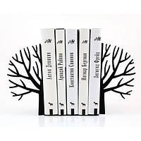 Держатели для книг Зимнее дерево (черный)