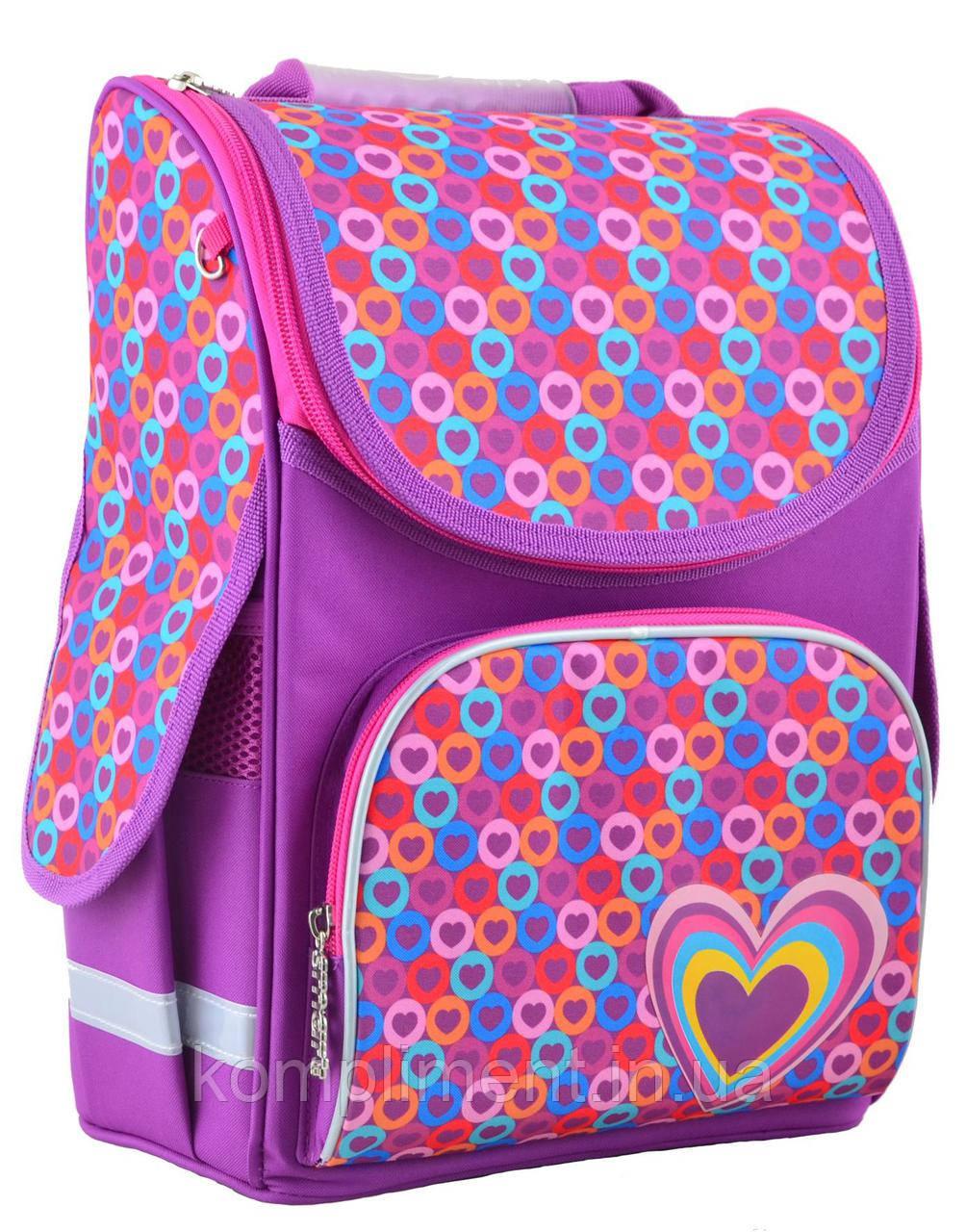 Рюкзак каркасный  PG-11 Hearts pink, 31*26*14  , SMART