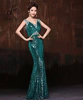 Выпускное платье Телла. В бирюзовом цвете.