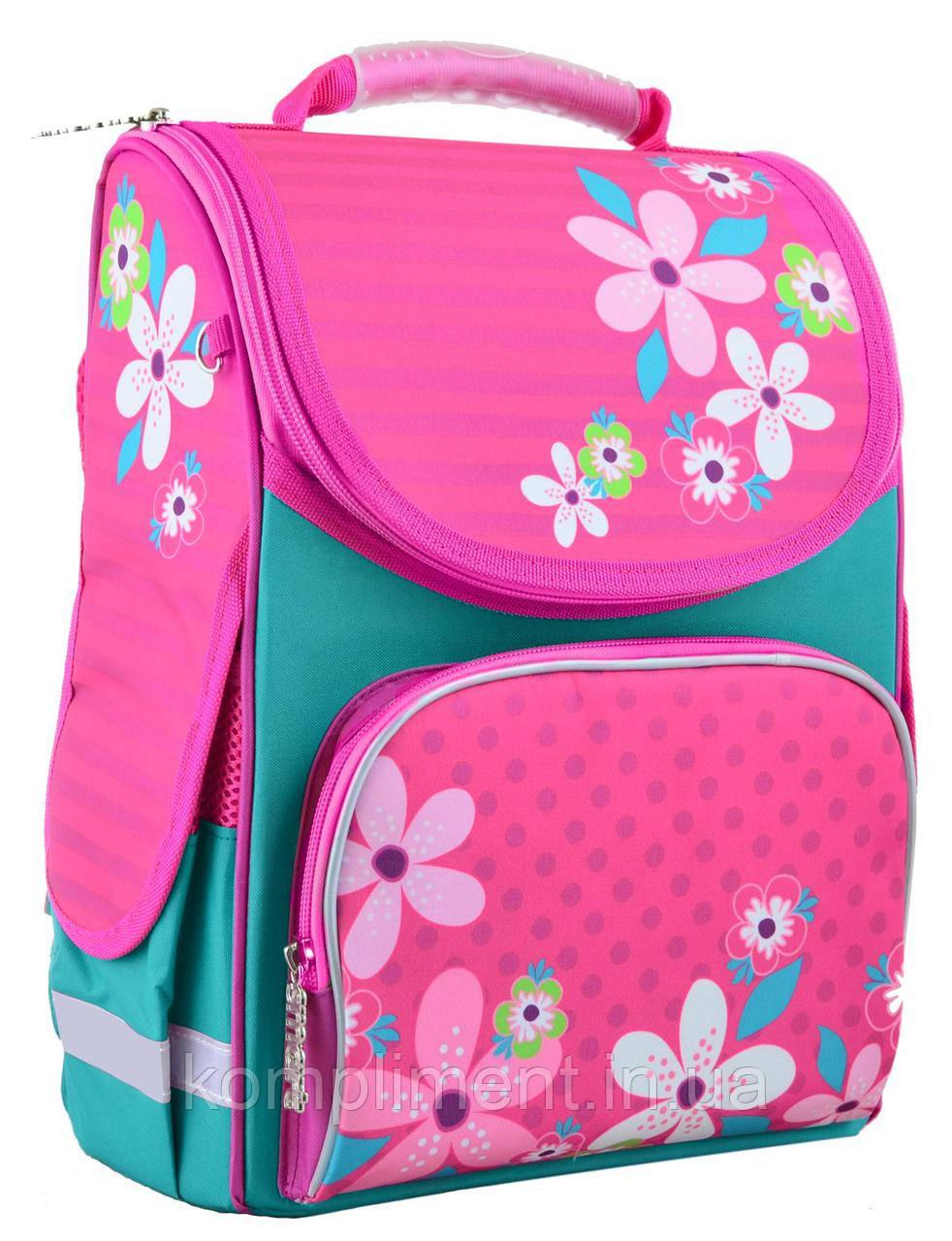 Рюкзак каркасний PG-11 pink Flowers 31*26*14 , SMART