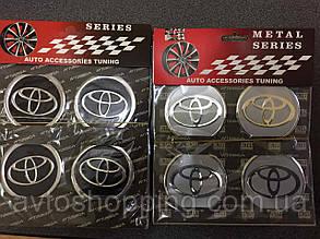 Наклейки на колпачки, заглушки, наклейки на диски 60 мм Toyota Тойота