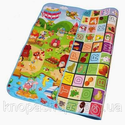 Детский коврик двусторонний. Размер 1,5м на 1,8м. Толщиной 1см