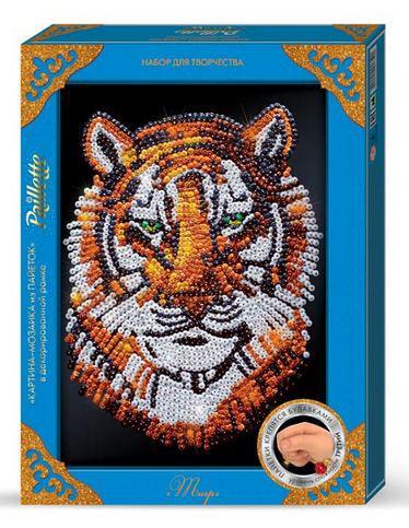 Набор для творчества DankoToys DT ПМ-02-04 Мозаика из пайеток Maxi Тигр
