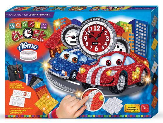 Набор для творчества DankoToys DT MC-01-04 Часы-палетки Mosaic clock Авто
