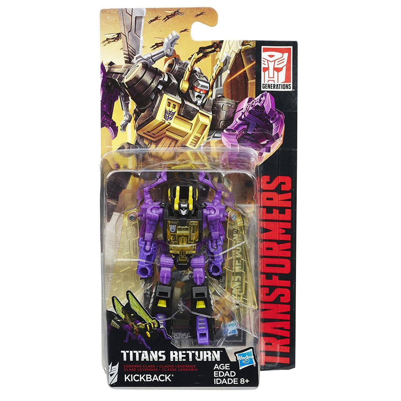 """Трансформер Кікбек (Стрибун) """"Війни Титанів"""" - Kickback, Legends, Hasbro, 9см"""