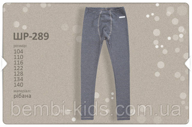Термобілизна: лосини для хлопчика. ШР 289