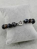 Женский браслет  из натурального камня Агат 20 см.