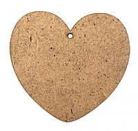 Заготовка для декорирования набор резных фигур 5шт (ДВП 3мм) Сердце-2 8*7,5см 4801106