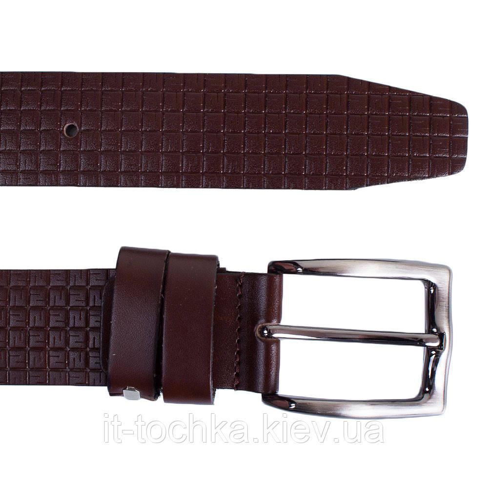 Мужской кожаный ремень y.s.k. shi3052-2 коричневый (Турция)