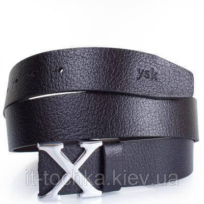 Мужской кожаный ремень y.s.k. shi286-1 черный
