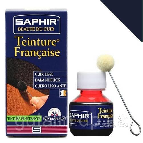 Краситель для гладкой кожи Saphir Teinture Francaise 50 мл цвет темно-синий (06)