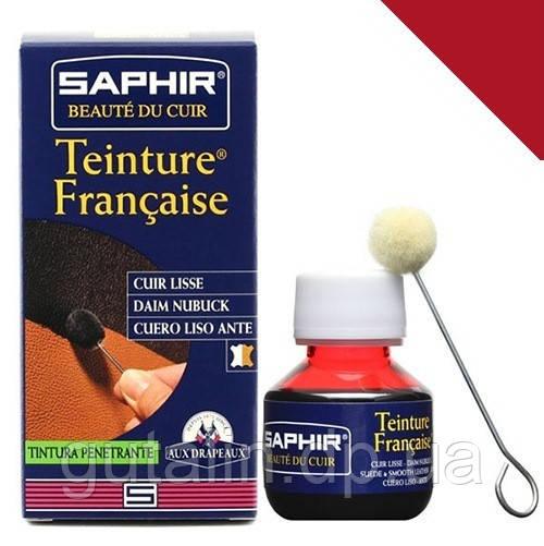 Краситель для гладкой кожи Saphir Teinture Francaise 50 мл цвет красный (11)