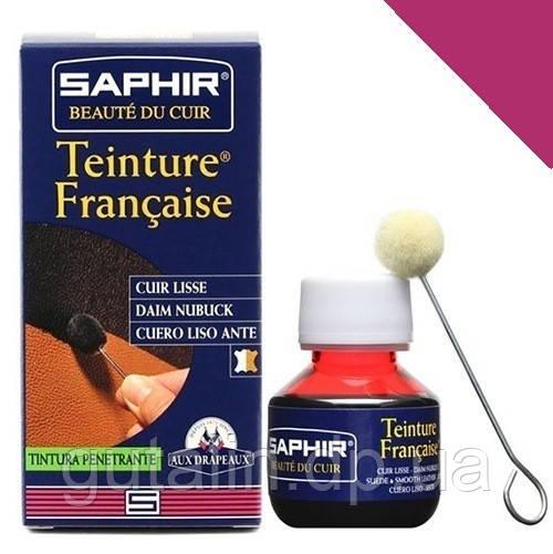 Краситель для гладкой кожи Saphir Teinture Francaise 50 мл цвет пурпурный (62)