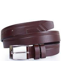 Мужской кожаный ремень с тиснением y.s.k. shi1885-10 коричневый